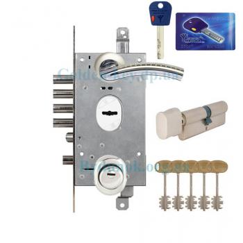 Дверной замок Mottura 54.797 с ручкой Armadillo Libra + Mul-T-Lock Integrator