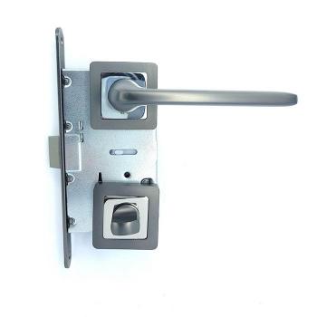 Дверные ручки под фиксацию TRION SOFIA 15 GRAFIT-CR AL