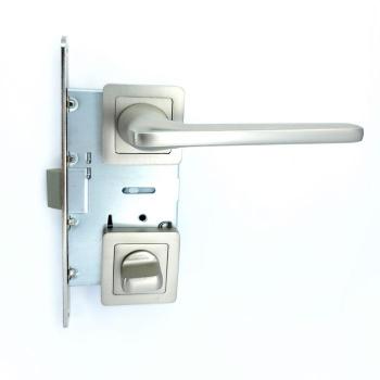 Дверные ручки под фиксацию TRION STRONG 74 Сатин/хром ЦАМ