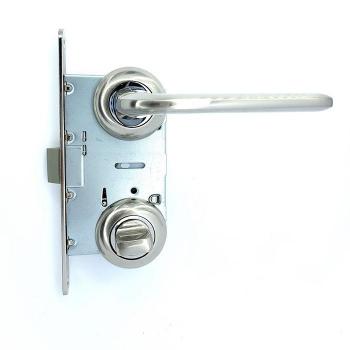 Дверные ручки под фиксацию TRION STRONG 17 Сатин/хром ЦАМ