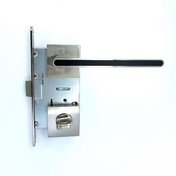 Дверные ручки под фиксацию TRION RADIANT 49 SN-BLACK ЦАМ
