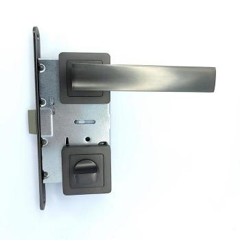 Дверные ручки под фиксацию TRION LIBERA 74 AL MBN Алюминий
