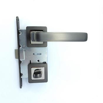 Дверные ручки под фиксацию TRION TERZO 74 AL MBN Алюминий