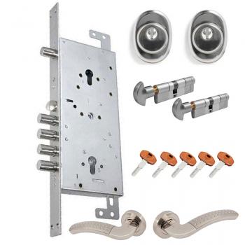 Комплект замка Гардиан 75.16 ZT с цилиндрами Securemme k64 (1 ключ на 2 замка )