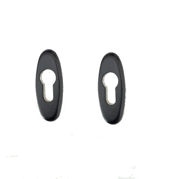 Овальная накладка для цилиндра Stublina 1031.02 RAL 9005